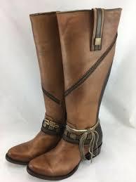 cuadra womens 7 5 us crust wax nuez tall leather boots 1x50cs brown new