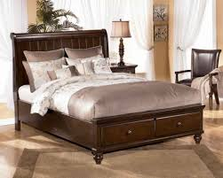 traditional bedroom with ashley furniture porter king