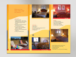 Hotel Brochure Designs Masculine Colorful Wireless Internet Brochure Design For