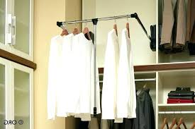 bathrooms pull down closet rod clothes out