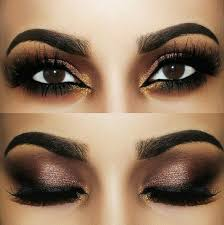 mesmerizing brown gold smokey eye look by using motivescosmetics for eyeshadow and morphebrushes for the brows by anastasiabeverlyhills