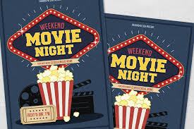Movie Night Flyers Impressive Customizable Design Templates For ...
