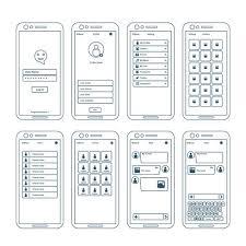 アプリのワイヤフレーム要素イラスト 無料素材集ダウンロード愛らしい