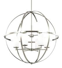 brushed nickel orb chandelier brushed nickel 9 light sphere chandelier free view larger photo 4
