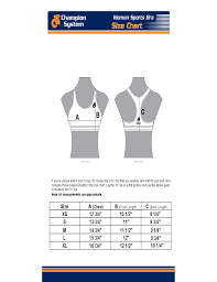 Sport Bra Size Chart Free Download