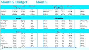 Sample Monthly Household Budget Household Budget Template Monthly Expenses Excel Budgeting Free