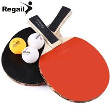 Design Table Tennis Us 12 48 Regail A508 Durable Design Table Tennis Racket With Three Balls Ping Pong Racket Table Tennis Racket Two Long Handle In Table Tennis
