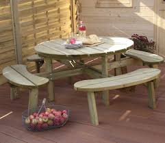 grange round picnic table