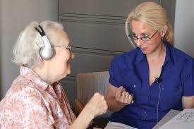 acbvi picture of a client receiving counseling and training for vision and hearing loss