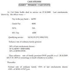 Defence Pension Calculation Examples Family Pension And