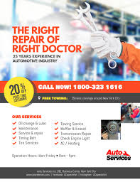 Auto Repair Flyer Auto Repair Service Flyer Template Postermywall