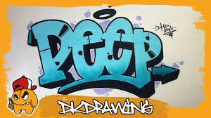 how to draw simple graffiti letters