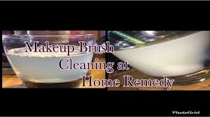 how to clean makeup brushes using remes at home