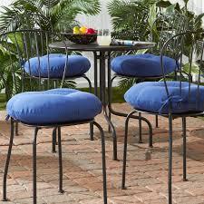 18 Inch Outdoor Round Solid Bistro Chair Cushion Set Of 4  W X