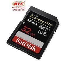 Thẻ nhớ SDHC SanDisk Extreme Pro U3 V30 633X 32GB 95MB/s (Đen)