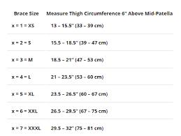 Donjoy Knee Brace Size Chart Donjoy Oa Reaction Web Knee Brace