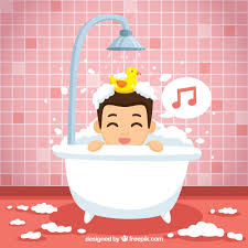 child taking a shower bath png transpa