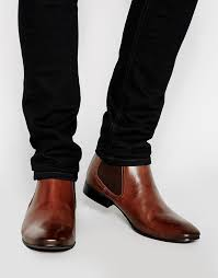 asos brand chelsea boots in leather