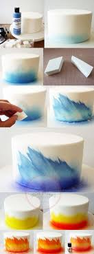 diy ombre cake technique with airbrush and makeup sponge 17 amazing cake decorating ideas