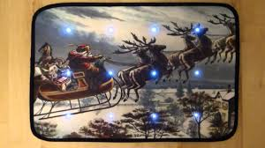 christmas door mats outdoor. Traditional Father Christmas Sleigh Musical Door Mat With LED Lights - YouTube Mats Outdoor A