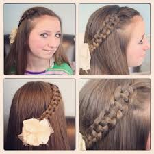 5 Minute Hairstyles For Girls Easy Hairstyle For Long Hair For School 5 Minute School Day Hair