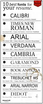 Best Fonts For Your Resume Fonts And Template