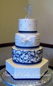 25 Cute Blue Wedding Cakes Ideas On Pinterest Navy Blue Wedding
