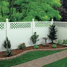 Beautiful Vinyl Privacy Fence Ideas Freedom Preassembled Wellington White To Decorating