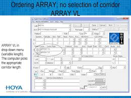 Hoya Array Centration Chart Introducing Ppt Download
