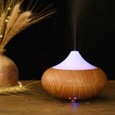 Oak Leaf Electric Essential Oil Diffuser Humidifer Aromatherapy Cool Mist Air Ultrasonic With Color Light Auto Shut Off Function Yogo Spa 140ml