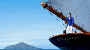 Doug Peterson Yacht Designer Stefano Ricci Shoots Fashion Campaign On Board Sailing Yacht
