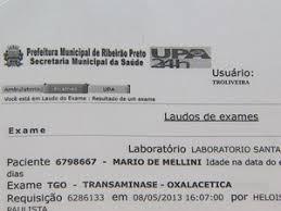 exames de urina nomes