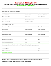 Apartment Application Form Printable Rental Application Form Online Application 6