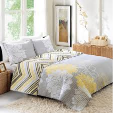 great yellow and gray bedspread better home garden quilt collection fl com bedroom bathroom bedding