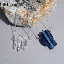 artilady crystal pendant necklaces healing stone raw quartz necklace women jewelry dropshipping