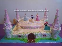Princess Castle Cakes Ideas Disney Princesses Castle Cake Wantslco