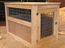 furniture style dog crate. Furniture Style Pet Crate Full Diy Dog End Table Unique Simple House Plans Beautiful Shelter