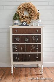 Dandelion Hand Painted Dresser Do you remember my first dandelion hand painted  dresser? Here is