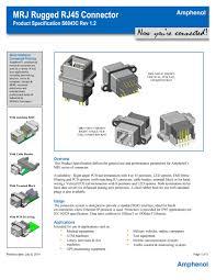 amphenol producs product specs