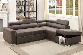 poundex f6549 dark coffee breathable leatherette convertible sectional sofa set convertible sectional sofa n57