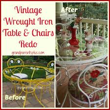 white wrought iron furniture. Vintage Wrought Iron Table And Chairs Redo Grandparentsplus.com White Furniture I