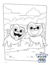 Bingo And Rolly Coloring Page Activity Disney Family