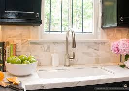 white calacatta gold marble subway white countertop idea