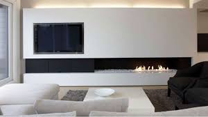 media wall a contemporary and minimalist television and fireplace