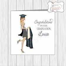 Congratulations For Graduation Personalised Congratulations Card Graduate Graduation Girl Mortar Gown Female Ebay