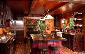 Concept Rustic Country Kitchen Design Dark Wood Freshomecom And Simple