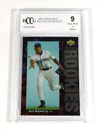 Alex rodriguez, 2003 topps record breakers. Amazon Com 1994 Upper Deck Alex Rodriguez Rookie 24 Mariners Bccg 9 Baseball Graded Card Everything Else