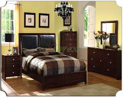 Leather Bedroom Furniture Bedroom Furniture Set With Leather Panel Headboard Beds 161 Xiorex