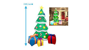 Led Light Up Christmas Tree Joiedomi 7 Foot Led Light Up Giant Christmas Tree Inflatable With 3 Gift Wrapped Boxes Perfect For B