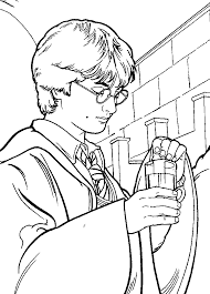 Small Picture Harry Potter Easy Coloring Pages Free Printable Harry Potter
